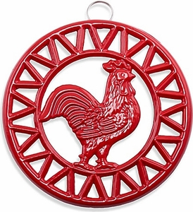 Old Dutch Red Rooster Trivet - Click to enlarge