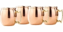 Old Dutch Set of 4 Copper Moscow Mule Mug Shot Cups