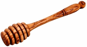 Olivewood Honey Dipper - Click to enlarge