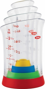 Oxo 4 Piece Mini Measuring Beaker Set - Click to enlarge