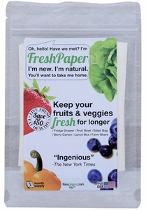 Pack of 8 Fresh Paper Produce Saver Sheets - Click to enlarge