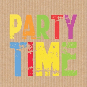 Party Time Beverage Napkins - Click to enlarge