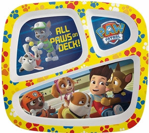 Zak's Paw Patrol 3 Section Plate - Click to enlarge