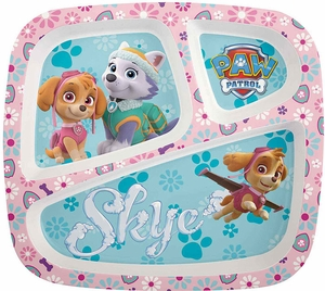 Paw Patrol Girl's 3 Section Plate - Click to enlarge