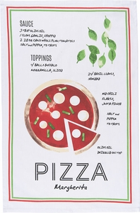 Pizza Recipe Kitchen Towel - Click to enlarge
