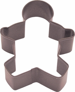 Polyresin Coated Cookie Cutter- Brown Boy - Click to enlarge