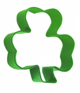 Polyresin Coated Cookie Cutter- Green Shamrock - Click to enlarge