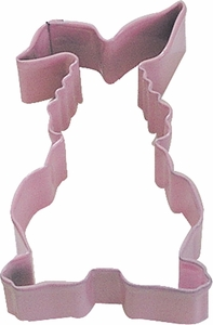 Polyresin Coated Cookie Cutter- Pink Bunny - Click to enlarge