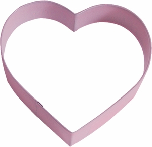 Polyresin Coated Cookie Cutter- Pink Heart - Click to enlarge
