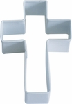 Polyresin Coated Cookie Cutter- White Cross