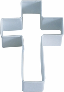 Polyresin Coated Cookie Cutter- White Cross - Click to enlarge
