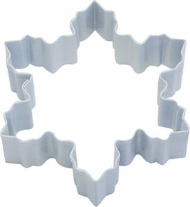 Polyresin Coated Cookie Cutter- White Snowflake - Click to enlarge