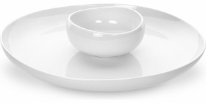 Portmeirion Ambiance Pearl Chip & Dip - Click to enlarge