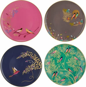Portmeirion Set of 4 Assorted Chelsea Bird Plates - Click to enlarge