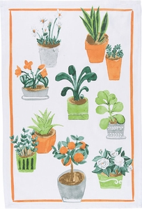 Potted Plants Kitchen Towel - Click to enlarge