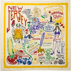 Primitives By Kathy New Jersey Tea Towel - Click to enlarge