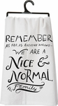 Primitives by Kathy Nice & Normal Tea Towel