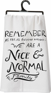 Primitives by Kathy Nice & Normal Tea Towel - Click to enlarge