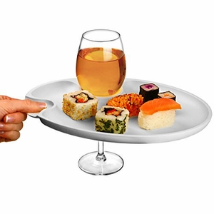 Prodyne Wine 'n Dine Party Plate White - Click to enlarge
