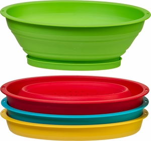 Progressive Mini Collapsible Colander- Assorted Colors - Click to enlarge