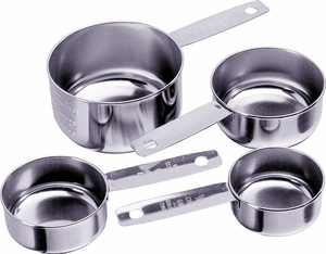Progressive Stainless Steel Measuring Cups - Click to enlarge