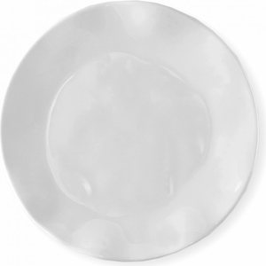 QSquared White Ruffle Round Salad Plate - Click to enlarge