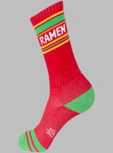 Ramen Ribbed Gym Socks - Click to enlarge