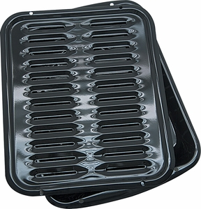 "Range Kleen 13"" x 16"" Porcelain Broiler Pan - Click to enlarge"