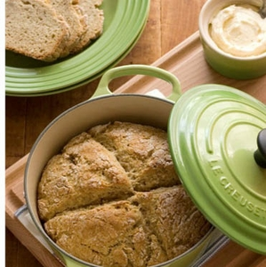 Dutch Oven Garlic & Herb Irish Soda Bread with Lemon Honey Butter Recipe - Click to enlarge