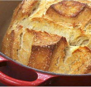 Dutch Oven Traditional Crusty Bread Recipe - Click to enlarge