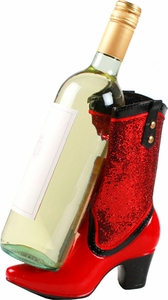 Boot Wine Caddy Red - Click to enlarge