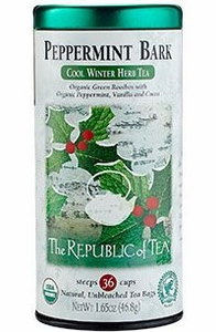 Republic of Tea Peppermint Bark Cool Winter Herb Tea - Click to enlarge