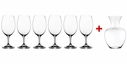 Riedel Ouverture Set of 6 Magnum Glasses & Apple Decanter