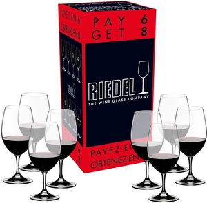 "Riedel ""Pay 6 Get 8"" Ouverture Magnum Wine Glasses - Click to enlarge"