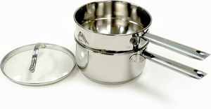 RSVP Induction Ready Stainless Steel Double Boiler - Click to enlarge
