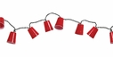 Set of 10 Red Party Cup String Lights