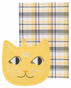 Set of 2 Cat Pocket Pals Kitchen Set - Click to enlarge