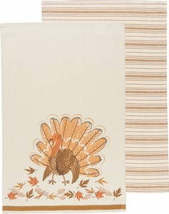 Set of 2 County Turkey Kitchen Towels - Click to enlarge