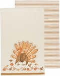 Set of 2 County Turkey Kitchen Towels
