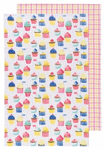 Set of 2 Cupcakes Towels - Click to enlarge