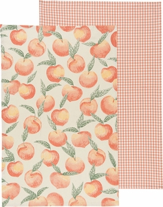 Set of 2 Peaches Kitchen Towels - Click to enlarge