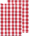 Set of 2 Picnic Check Poppy Kitchen Towels