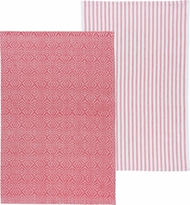 Set of 2 Prism Towels Poppy - Click to enlarge