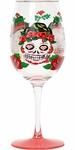 Set of 2 Sugar Skull Wine Glasses