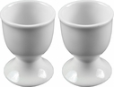 Set of 2 White Porcelain Egg Cups