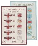 Set of 2 Wine Pairings Towel