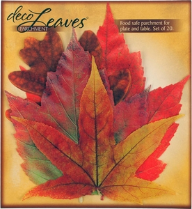 Set of 20 Paper Fall French Cheese Leaves - Click to enlarge