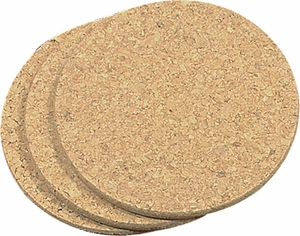 Set of 3 Round Cork Trivets - Click to enlarge
