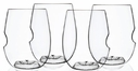Set of 4 GoVino 12 oz Wine/Cocktail Glasses - Dishwasher Safe