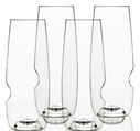 Set of 4 GoVino 8 oz Champagne Flutes -  Dishwasher Safe